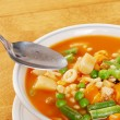 Stock Photo: Ready to eat vegetable soup