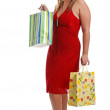 Young lady with shopping bags — Stock Photo