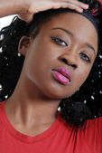 Young jamaican woman portrait — Stock Photo