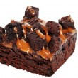 Caramel brownie isolated — Stock Photo