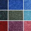 Colorful carpet samples — Stock Photo
