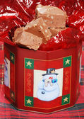 Christmas fudge with nuts — Stock Photo