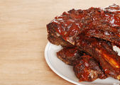 Closeup barbecue beef spare ribs — Stock Photo