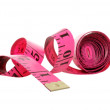 Isolated pink tape measure — Stock Photo