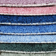 Stack of carpet samples — Stock Photo