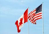 Canadian usa flag — Stock Photo