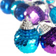 Royalty-Free Stock Photo: Blue and purple christmas ornament shallow DOF