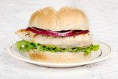 Barbecue chicken burger — Stock Photo