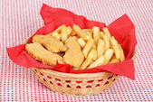 Chicken fingers and french fries — Stock Photo