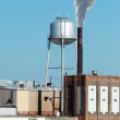 Industrial factory water tower — Stock Photo