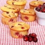Lots of lemon cranberry muffins — Stock Photo #3774426