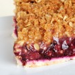 Macro fruit berry crumble pie — Stock Photo #3774582
