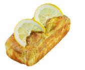 Isolated Lemon Pound Cake — Stock Photo