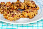 Fruit cake cookies close up — Stock Photo