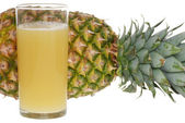 Glass of pineapple juice — Stock Photo