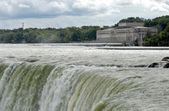 Power station Niagara river — Stock Photo