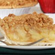 Macro apple crumble pie — Stock Photo