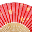 Red asian fan — Stock Photo