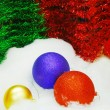 Red Blue Gold Christmas Balls — Foto de Stock