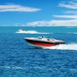 Red power boat — Stock Photo