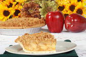Fresh apple crisp pie — Stock Photo
