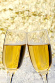 New years eve champagne toast — Stock Photo