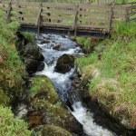 Bridge and waterfall — Stock Photo