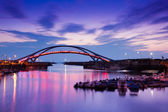 The dock bridge sunset with sky in taiwan Dream style — Stock Photo