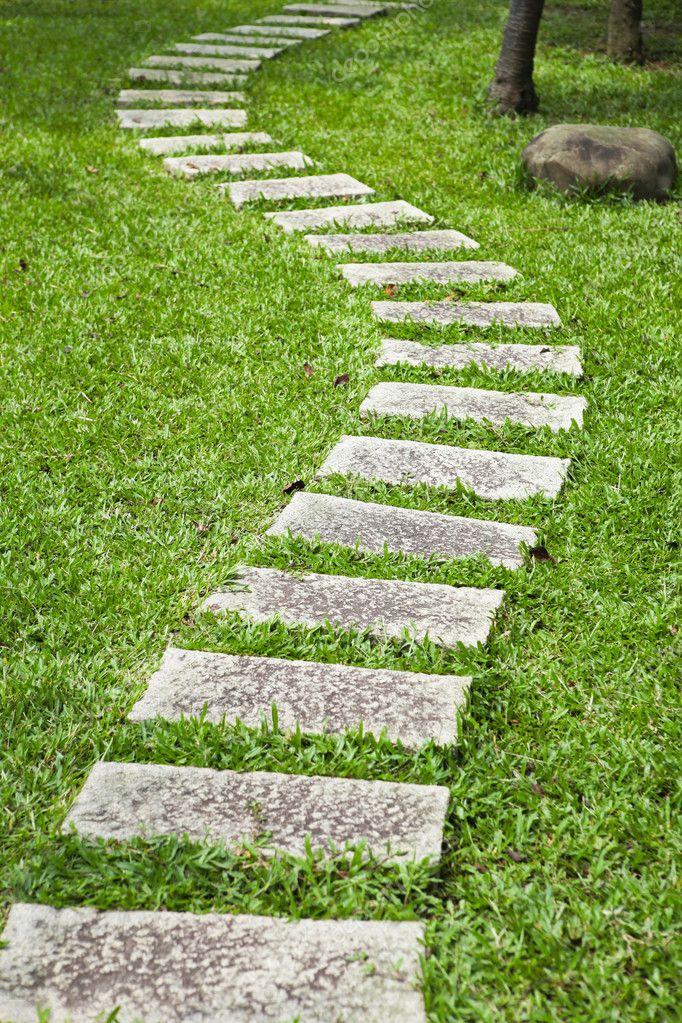 pedra jardim caminho:Stone Garden Path
