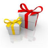 Two gift box — Stock Photo