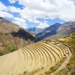 Stock Photo: Terraces at Pisac ruins