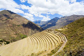 Terraces at Pisac ruins — Stock Photo