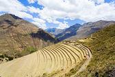 Terraces at Pisac ruins — Stock Photo