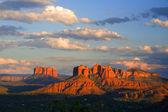 Röda klippor sunset — Stockfoto