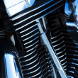 Motorcycle engine details - Stock Photo