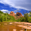 Stock Photo: Cathedral Rock and Oak Creek