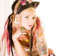 Chica sexy con tatuajes — Foto de Stock