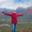 felice in arizona — Foto Stock