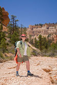 Hiking in Bryce Canyon — 图库照片