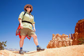 Wandern im bryce canyon — Stockfoto