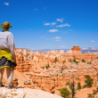 Stock Photo: Hiking in Bryce Canyon