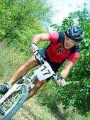 Portrait of cyclist — Foto de Stock