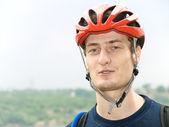Portret kolarz — Zdjęcie stockowe