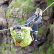 Tyrolean traverse — Stock Photo