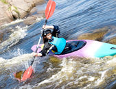 Female kayaker — Stock Photo