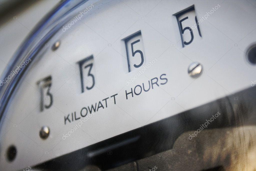 Kilowatt Usage Meter : Kilowatt meter — stock photo justinkendra