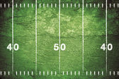 Grunge Football Field — Stock Photo