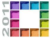 Colorful calendar 2011 — Stock Vector