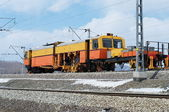 The railway repair car — Stockfoto