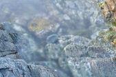 Sea stones in a surf — Zdjęcie stockowe